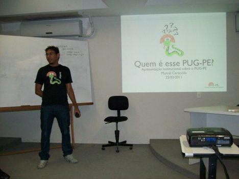 Marcel Caraciolo apresentando o que é o PUG-PE
