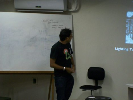 Marcel Caraciolo apresentando o Toró de Palestras