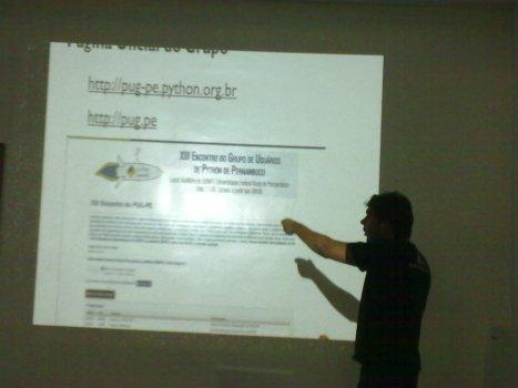 Marcel apresentando os projetos do PUG-PE