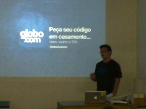 Rafael Carício e sua palestra sobre TDD